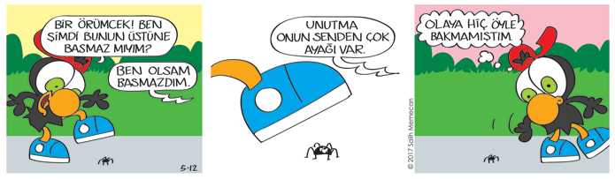 s20170512-karikatur-Limon-Zeytin-hayvan-orumcek-ayak-yaramazlik-korku-bahce